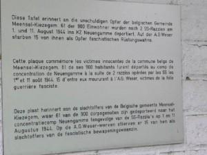 Bild über Inschrift der Denkmaltafel am Schützenhof