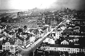 Bild zeigt die Jutespinnerei in Bremen