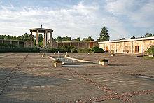 Das Bild zeigt eine Gedenkstätte in Lidice