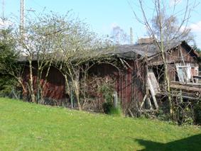 Das Bild zeigt die Lagerbaracken in Mahndorf