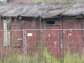 Das Bild zeigt Lagerbaracken in Mahndorf