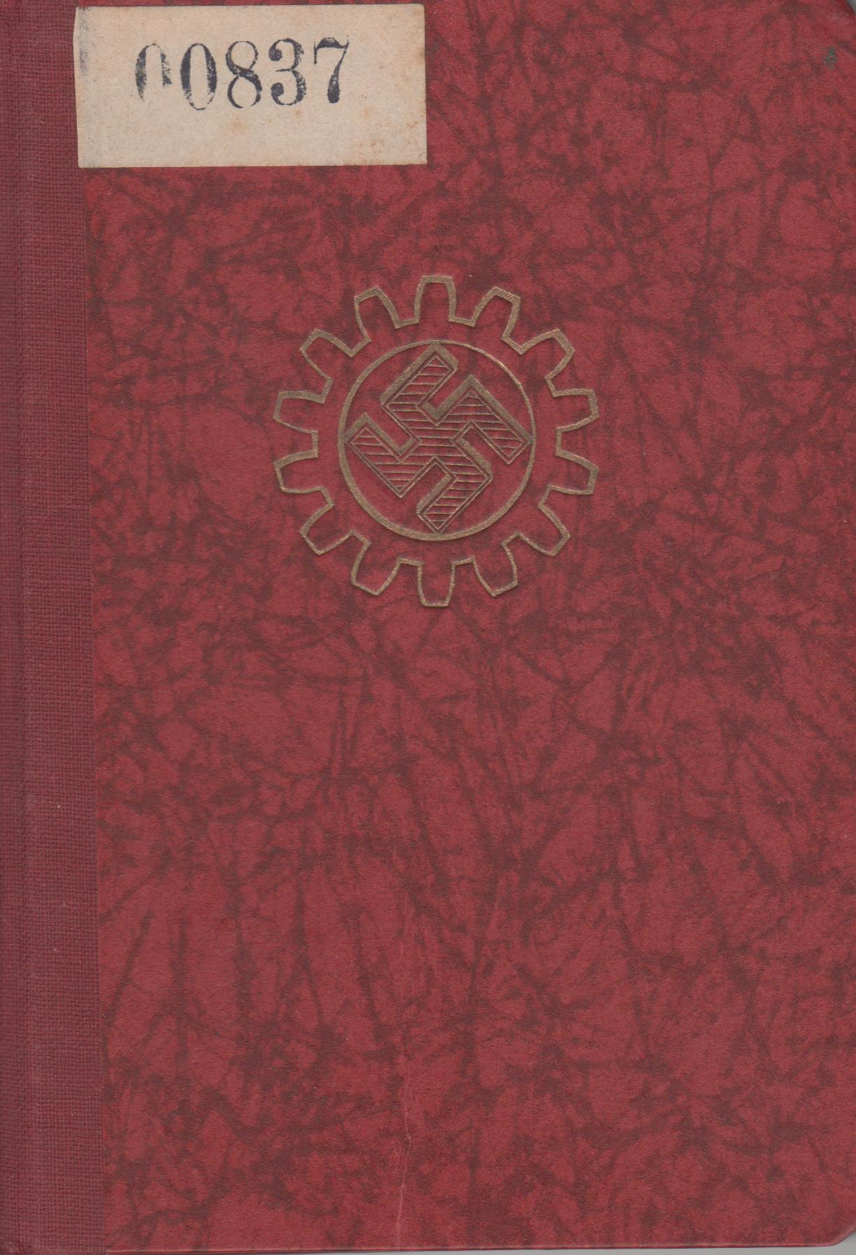 Das Bild zeigt die Vorderseite des Mitgliedsbuchs