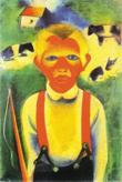 Hirtenjunge, ein Bild von Wilhelm Heckrott