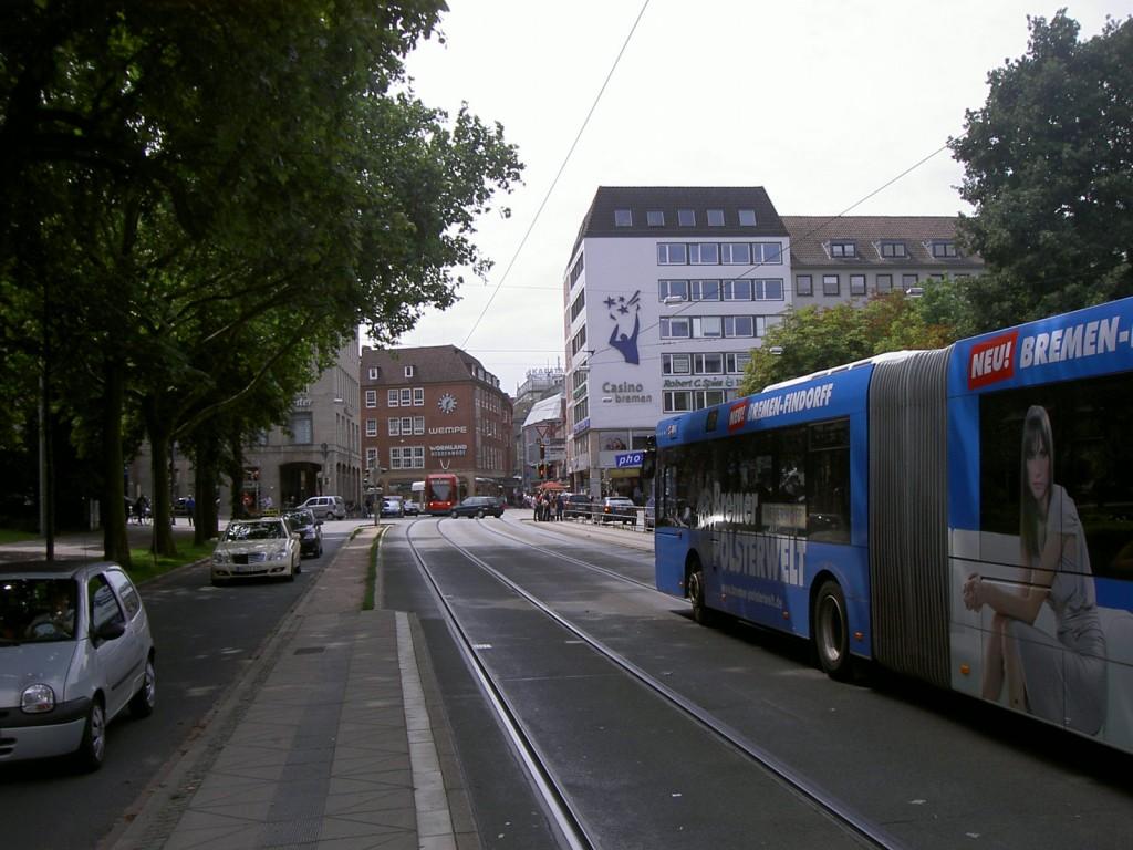 Das Bild zeigt den Blick in die Sögestraße heute