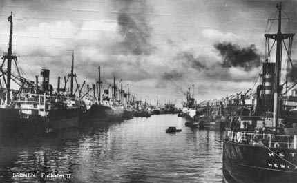 Dasreihafen um 1930 Bild zeigt den F