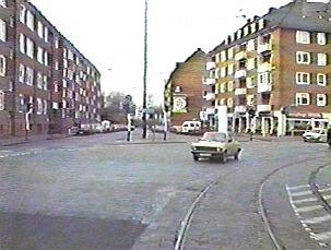 Das Bild zeigt den Blick aus dem Doventorsteinweg Richtung Hafen/Walle