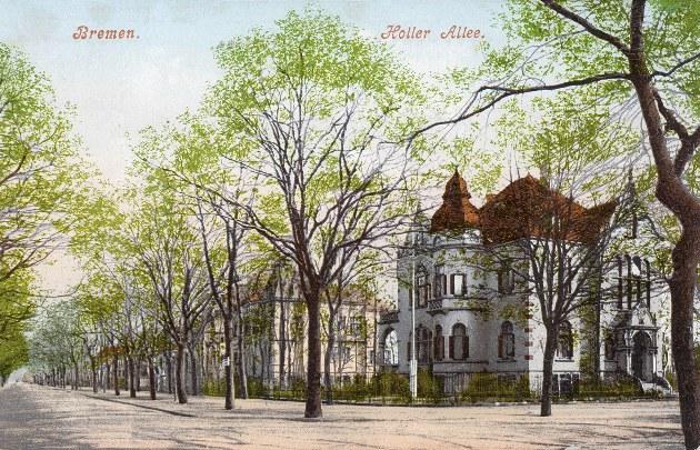 Das Bild zeigt das Haus in der Hollerallee 75 welches früher um 1900 als Sitz der Bremer SA diente
