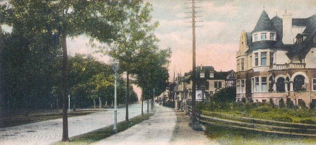 Das Bild zeigt die Parkallee Ecke Altmannstraße um 1900