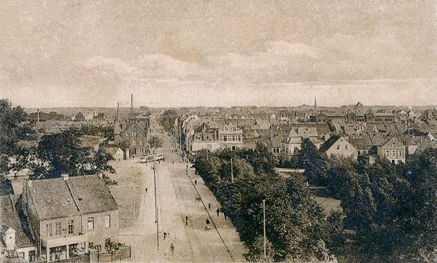 Das Bild zeigt den Buntentorsteinweg vor etwa 100 Jahren