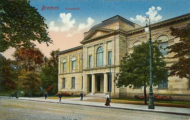 Das Bild zeigt die Kunsthalle nach 1904