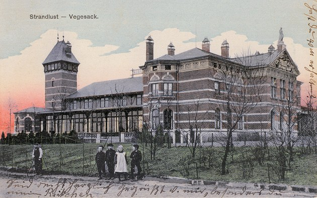 Das Bild zeigt das Strandufer von Vegesack um 1900