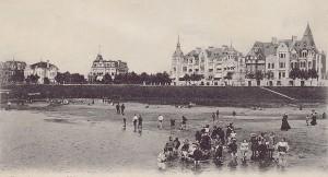 Blick auf die Strandpromenade vom Osterdeich in Bremen (damals)