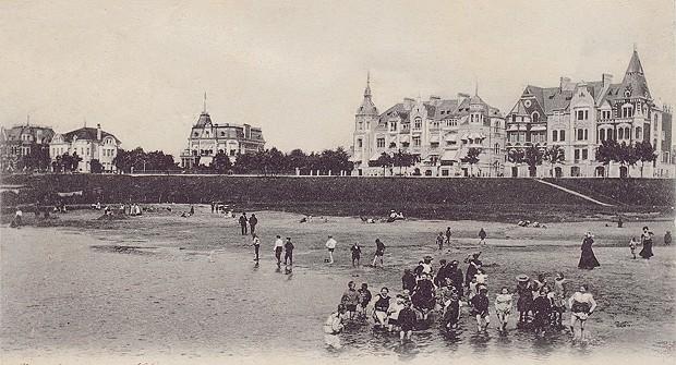 Dieses Bild zeigt den Blick auf die Strandpromenade vom Osterdeich in Bremen (damals)
