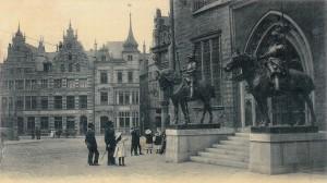 Reiterfiguren, die erstmals 1901 aufgestellt wurden