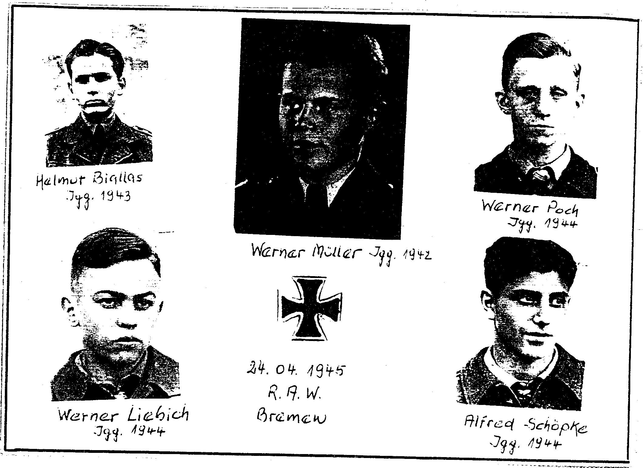 Dieses Bild zeigt das letzte Aufgebot vom Aufruf Hitlers zum Volkssturm