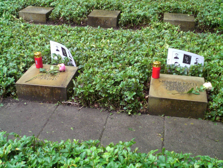 Dieses Bild zeigt das vom Volksbund Deutsche Kriegsgräberfürsorge gepflegte Grab der Gefallenen des Volkssturms