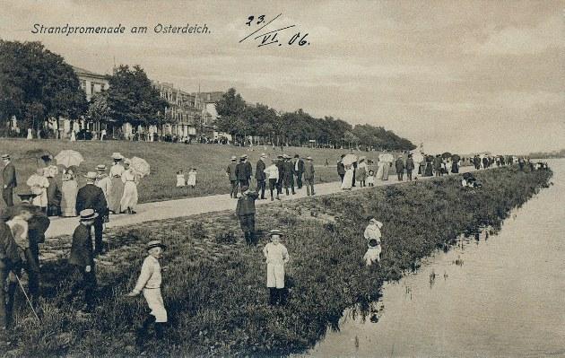 Dieses Bild zeigt die Weserpromenade 1906