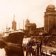 Dieses Bild zeigt die Getreideanlage und Rolandmühle