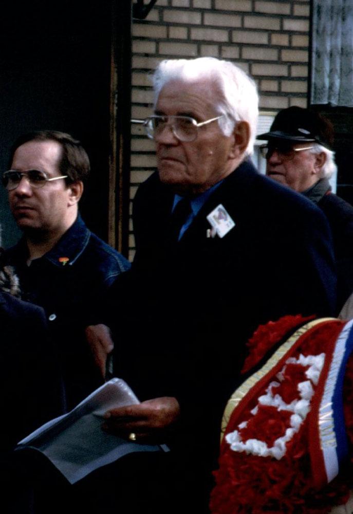 Dieses Bild zeigt den ehemaligen KZ-Häftling Rene Thirion
