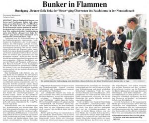 Dieses Foto zeigt einen Artikel über einen antifaschistischen Stadtrundgang in der Neustadt