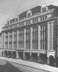 Dieses Bild zeigt den damaligen Gebäudeteil, damaliger Besitzer war der jüdische Unternehmer Leo Neumann